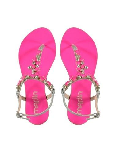 Marjin Taşlı Sandalet Fuşya